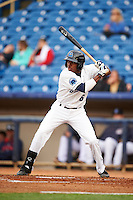 Lake County Captains outfielder Greg Allen (6) at bat during a game against the Fort Wayne TinCaps on May 20, 2015 at Classic Park in Eastlake, Ohio.  Lake County defeated Fort Wayne 4-3.  (Mike Janes/Four Seam Images)