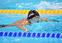 August 04, 2012..Kosuke Kitajima competes in Men's 4x100 Medley Relay at the Aquatics Center on day eight of 2012 Olympic Games in London, United Kingdom.