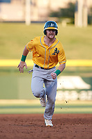 AZL Athletics Gold Kyle McCann (33) runs to third base during an Arizona League game against the AZL Cubs 1 at Sloan Park on June 20, 2019 in Mesa, Arizona. AZL Athletics Gold defeated AZL Cubs 1 21-3. (Zachary Lucy/Four Seam Images)