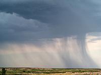 Storm clouds. Badlands National Park, South Dakota.