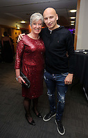 Pictured: Suzanne Eames and Jonjo Shelvey<br /> Re: Swansea City FC Christmas party at the Liberty Stadium, south Wales, UK.