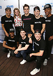 Taylor Louderman, Kyle Selig with male cast members attends the United Airlines Presents: #StarsInTheAlley Produced By The Broadway League on June 1, 2018 in New York City.