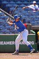 Memphis Tigers Alec Trela (29) bats during a game against the East Carolina Pirates on May 25, 2021 at BayCare Ballpark in Clearwater, Florida.  (Mike Janes/Four Seam Images)