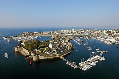 Concarneau in Brittany. Tom Dolan's new home port is a characterful old place with a highly-developed modern marine industry.