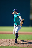 Joey Kurtz (63), from Westborough, Massachusetts, while playing for the Mariners during the Baseball Factory Pirate City Christmas Camp & Tournament on December 30, 2017 at Pirate City in Bradenton, Florida.  (Mike Janes/Four Seam Images)