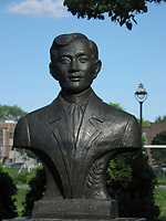 Montreal (Qc) CANADA, <br /> <br /> Bust of Philipinnes hero Jose Rizal in Montreal