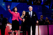 Denver, Colorado<br /> August 25, 2008<br /> <br /> The opening day of the Democratic National Convention in the Pepsi Center. Sen. Edward M. Kennedy, D-Mass., holding the hand of his wife, Victoria, waves to the cheering delegates as he prepares to address the Democratic National Convention.