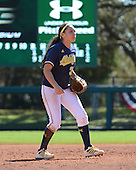 Michigan Wolverines Softball shortstop Sierra Romero (32) during a game against the Bethune-Cookman on February 9, 2014 at the USF Softball Stadium in Tampa, Florida.  Michigan defeated Bethune-Cookman 12-1.  (Copyright Mike Janes Photography)