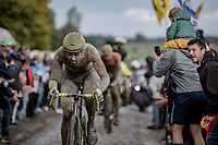 Baptiste Planckaert (BEL/Intermarché-Wanty-Gobert)<br /> <br /> 118th Paris-Roubaix 2021 (1.UWT)<br /> One day race from Compiègne to Roubaix (FRA) (257.7km)<br /> <br /> ©kramon