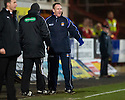 KILMARNOCK MANAGER KENNY SHIELS IS UPSET AT NOT GETTING A PENALTY DECISION