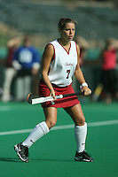 6 November 2007: Stanford Cardinal Rachel Mozenter during Stanford's 1-0 win against the Lock Haven Lady Eagles in an NCAA play-in game to advance to the NCAA tournament at the Varsity Field Hockey Turf in Stanford, CA.