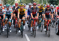 29th August 2020, Nice, France;  Peleton during stage 1 of the 107th edition of the 2020 Tour de France cycling race, a stage of 156 kms with start in Nice Moyen Pays and finish in Nice