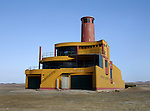 A house shaped as a boat in the desert of Paracas, Peru.