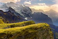 Mannlichen looking The Jungfrau - Swiss Alps