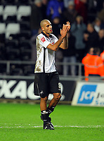 ATTENTION SPORTS PICTURE DESK<br /> Pictured: Darren Pratley of Swansea City <br /> Re: Coca Cola Championship, Swansea City Football Club v Nottingham Forest at the Liberty Stadium, Swansea, south Wales. Saturday 12 December 2009