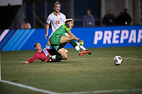 Santa Barbara, CA - Friday, December 7, 2018:  Maryland men's soccer defeated Indiana 2-0 in a semi-final match in the 2018 College Cup.  Rece Buckmaster.