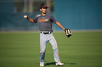 Zachary Johnson (61), from Honolulu, Hawaii, while playing for the Giants during the Baseball Factory Pirate City Christmas Camp & Tournament on December 28, 2017 at Pirate City in Bradenton, Florida.  (Mike Janes/Four Seam Images)
