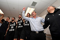 Tall Blacks Celebrate Qualifying for the FIBA World Cup in China 2019, FIBA World Cup Basketball Qualifier - NZ Tall Blacks v Syria at TSB Bank Arena, Wellington, New Zealand on Sunday 2 2018. <br /> Photo by Masanori Udagawa. <br /> www.photowellington.photoshelter.com
