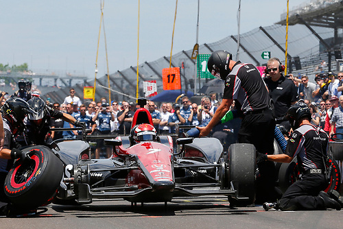 Verizon IndyCar Series<br /> Indianapolis 500 Carb Day<br /> Indianapolis Motor Speedway, Indianapolis, IN USA<br /> Friday 26 May 2017<br /> Mikhail Aleshin, Schmidt Peterson Motorsports Honda Pit Stop Competition<br /> World Copyright: Russell LaBounty<br /> LAT Images