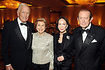 From left: Dr. Denton Cooley and his wife Louise with Cornelia and Meredith Long at the Denton A. Cooley Leadership Award Dinner benefitting Texas Heart Institute at the Hilton American Houston Wednesday Feb. 03,2010.(Dave Rossman Photo)