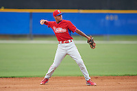 Philadelphia Phillies Arquismedez Gamboa (30) during an instructional league game against the Toronto Blue Jays on September 28, 2015 at Englebert Complex in Dunedin, Florida.  (Mike Janes/Four Seam Images)