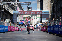 Egan Bernal (COL/Ineos Grenadiers) finishing victoriously in front of the mighty Duomo in Milano<br /> <br /> 104th Giro d'Italia 2021 (2.UWT)<br /> Stage 21 (final ITT) from Senago to Milan (30.3km)<br /> <br /> ©kramon