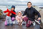 Enjoying Rossbeigh beach on Sunday, l to r:  Sylvia, Aaron, Amelia and Sandra Lakaciauskaide