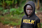 A boy in the mountainous community of Foret-des-Pins, Haiti.