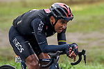 Jhonatan Manuel Narvaez Prado (ECU) Ineos Grenadiers out front alone during Stage 12 of the 103rd edition of the Giro d'Italia 2020 running 204km from Cesenatico to Cesenatico, Italy. 15th October 2020.  <br /> Picture: LaPresse/Fabio Ferrari | Cyclefile<br /> <br /> All photos usage must carry mandatory copyright credit (© Cyclefile | LaPresse/Fabio Ferrari)