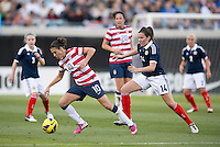 Carli Lloyd, Leanne Crichton.  The USWNT defeated Scotland, 4-1, during a friendly at EverBank Field in Jacksonville, Florida.