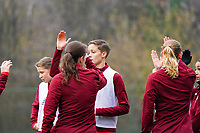 Maurane Marinucci (7 Standard) gives a high five to her team before a female soccer game between Standard Femina de Liege and RSC Anderlecht on the 9th matchday of the 2020 - 2021 season of Belgian Scooore Womens Super League , saturday 12 th of December 2020  in Angleur , Belgium . PHOTO SPORTPIX.BE   SPP   SEVIL OKTEM