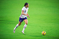 ORLANDO, FL - JANUARY 18: Lynn Williams #6 of the USWNT dribbles the ball during a game between Colombia and USWNT at Exploria Stadium on January 18, 2021 in Orlando, Florida.