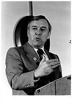 Alan Blakeney, Premier-Ministre de la Saskatchewa<br /> <br /> Premier of Saskatchewa Alan Blakeney<br /> , <br /> 8 septembre 1980 <br /> <br /> PHOTO :   agence Quebec Presse