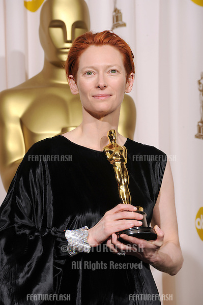 Tilda Swinton at the 80th Annual Academy Awards at the Kodak Theatre, Hollywood..February 24, 2008 Los Angeles, CA.Picture: Paul Smith / Featureflash