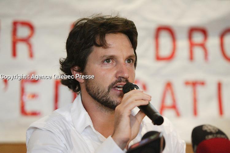 syndicat des professeurs du Collège de Rosemont (CEQ), 14 aout 2012 <br /> <br /> Photo : Agence Quebec Presse