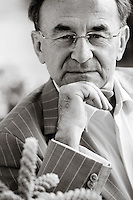 Jacques Moscato, author and former orchestral conductor, poses for the photographer at his Monaco home, Thursday 22 October 2009