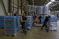 Moscow, Russia, 06/11/2007..Pepsi Bottling Group production lines and warehouse facilities in northern Moscow.