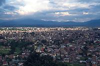 View of Katmandu Valley from Swayambunath stupa.