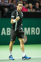 Rotterdam, The Netherlands, February 12, 2016,  ABNAMROWTT, Roberto Bautista Agut (ESP)<br /> Photo: Tennisimages/Henk Koster