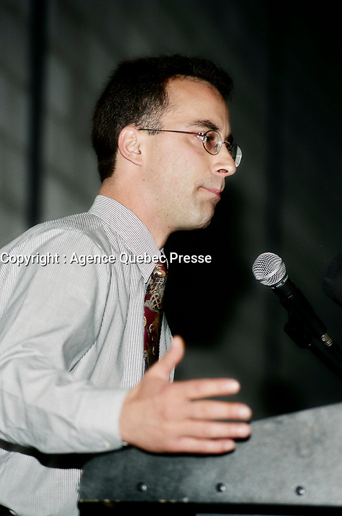 Montreal (Qc) CANADA - May 17 1998<br /> -File Photo -<br /> <br /> municipal candidate Martin Lemay (R).<br /> <br /> Martin Lemay (born March 19, 1964 in Amos, Quebec) is a politician in Quebec, Canada. He is the Parti Québécois (PQ) Member of the National Assembly (MNA) for Sainte-Marie—Saint-Jacques in the National Assembly of Quebec