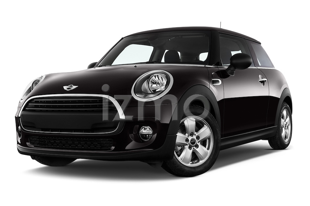 Stock pictures of low aggressive front three quarter view of a 2015 MINI MINI Cooper 3 Door Hatchback Low Aggressive