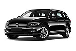 Stock pictures of low aggressive front three quarter view of 2020 Volkswagen Passat-Variant Elegance-Business 5 Door Wagon Low Aggressive