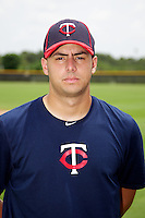 GCL Twins Andre Martinez #39 poses for a photo after a Gulf Coast League game against the GCL Rays at the Charlotte Sports Complex on July 19, 2012 in Port Charlotte, Florida.  GCL Twins defeated the GCL Astros 4-2.  (Mike Janes/Four Seam Images)
