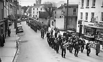 The St. patrick's Day parade makes its way up College Street, Killarney in the 1950's..Photo: macmonagle.com archive