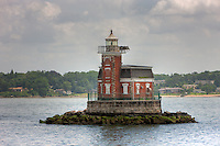 Stepping Stones Light Station is an active lighthouse, located in the Long Island Sound, protecting mariners traveling those waters.