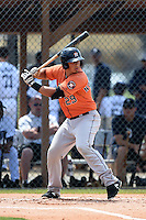 Houston Astros Jacob Nottingham (29) during a minor league spring training game against the Detroit Tigers on March 25, 2015 at Tiger Town in Lakeland, Florida.  (Mike Janes/Four Seam Images)