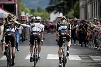 happy teammates<br /> <br /> Stage 12: Toulouse to Bagnères-de-Bigorre(202km)<br /> 106th Tour de France 2019 (2.UWT)<br /> <br /> ©kramon