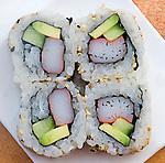 California Roll, Shoji Restaurant, South Beach, Miami, Florida