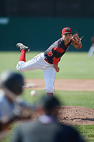 Batavia Muckdogs relief pitcher Kenny Koplove (3) delivers a pitch during a game against the West Virginia Black Bears on June 25, 2017 at Dwyer Stadium in Batavia, New York.  Batavia defeated West Virginia 4-1 in nine innings of a scheduled seven inning game.  (Mike Janes/Four Seam Images)