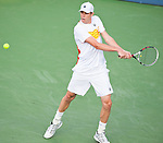Sam Querrey of the US during his semifinal match at the Citi Open in Washington, DC on August 4, 2012.